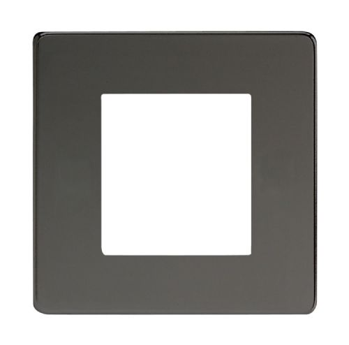 Varilight XDIG2S Screwless Iridium Black DataGrid Plate (2 DataGrid Spaces)